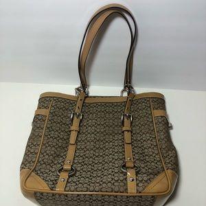 Coach mini c gallery tote bag purse patent leather